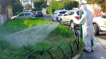 Tratamientos herbicidas en Málaga