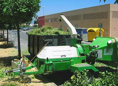 Triturado de residuos vegetales Málaga