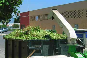 Triturado de residuos vegetales