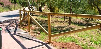 Vallas de madera para jardín Málaga